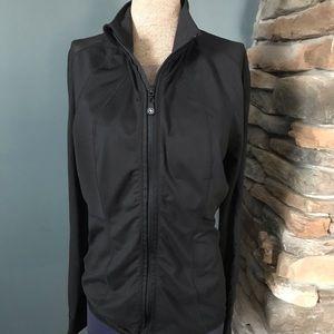 Adrienne Vittadini track jacket mesh sleeves/back